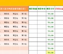 新房装修建材预算表(含超详细的建材主材清单)